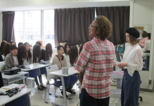ファッションビューティー・松山ビジネス カレッジにて【ショーヘアアレンジの特別授業をさせていただきました】